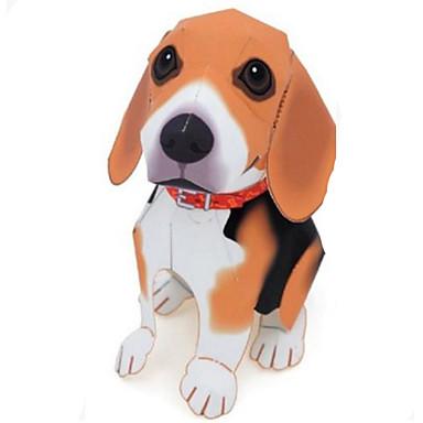 Quebra-Cabeças 3D Maquetes de Papel Artesanato de Papel Brinquedos de Montar Cachorros Animais Simulação Faça Você Mesmo Cartão de Papel