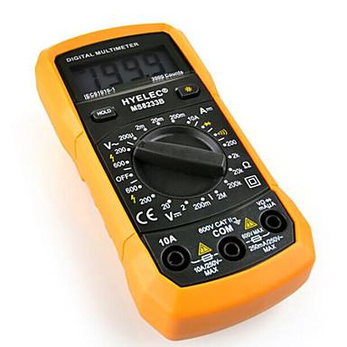 multifonction ms8233b hyelec mini-multimètre numérique / rétro-éclairage