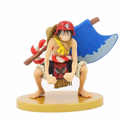 Anime Toimintahahmot Innoittamana One Piece Monkey D. Luffy PVC 18cm CM Malli lelut Doll Toy Unisex
