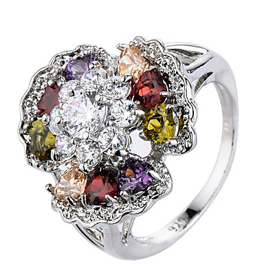 Women's Ring Settings Ring Band Ring Cubic Zirconia Rhinestone Personalized Floral Luxury Geometric Unique Design Classic Rhinestone