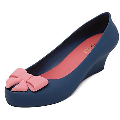 Dame Sandaler Komfort Sommer PP (Polypropen) Avslappet Svart Navyblå Mørk Lilla 2,5 - 4,5 cm