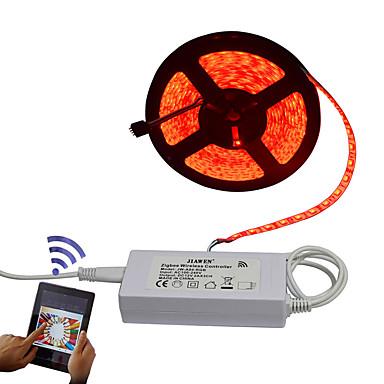 Faixas de Luzes RGB 300 LEDs Controlo Remoto Cortável Regulável Impermeável 100-240V