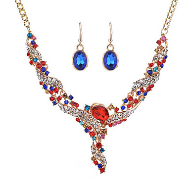 Women's Synthetic Diamond Jewelry Set - Fashion Include Bridal Jewelry Sets Rings Set Rainbow / Red / Blue For Wedding Event / Party Dailywear