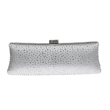 Women's Bags Polyester Evening Bag Rhinestone for Wedding Event/Party Formal All Seasons Gold Black Silver Red Fuchsia