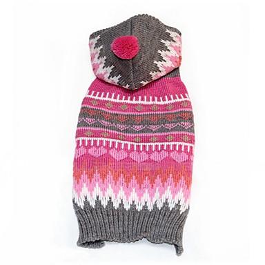 Hund Kostume Hundeklær Vinter Cosplay Stripe For kjæledyr