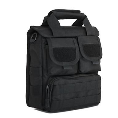 Men Shoulder Bag Nylon All Seasons Casual Outdoor Round Zipper Black Brown