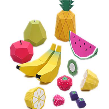 Quebra-Cabeças 3D Maquetes de Papel Artesanato de Papel Brinquedos de Montar Fruta Simulação Faça Você Mesmo Cartão de Papel Duro