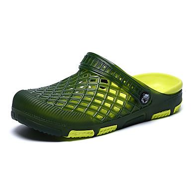 Miehet kengät PU Kesä Valopohjat Puukengät Käyttötarkoitus Kausaliteetti Harmaa Ruskea Vihreä Sininen