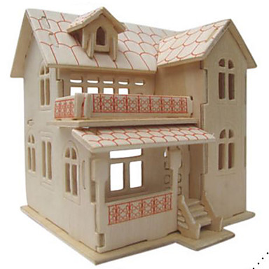 3D Puzzles Jigsaw Puzzle Model Building Kits Toys Famous buildings Architecture 3D DIY Natural Wood Not Specified Pieces