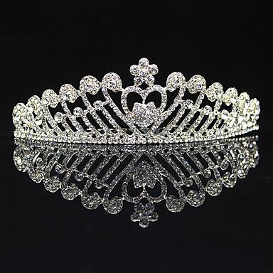 Rhinestone Alloy Tiaras 1 Wedding Special Occasion Party / Evening Headpiece
