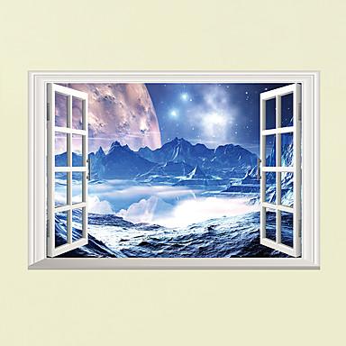 Dekorative Mur Klistermærker - 3D Mur Klistremerker Landskap Mote 3D Stue Soverom Baderom Kjøkken Spisestue Leserom / Kontor