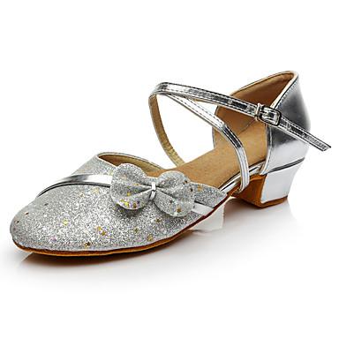 Női Modern cipők Flitter Sportcipő Teljesítmény Csokor / Fénylő Alacsony Személyre szabható Dance Shoes Ezüst