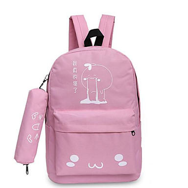 Women Bags Canvas Backpack for Casual All Seasons Blue Black Blushing Pink