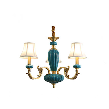 3-Light Chandelier Uplight - Mini Style, Designers, 110-120V / 220-240V Bulb Not Included / 10-15㎡
