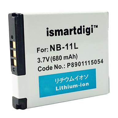 Ismartdigi 11L 3.7V 680mAh Camera Battery for Canon IXUS 240 245 A2300 2400 2600 3400 3500 4000