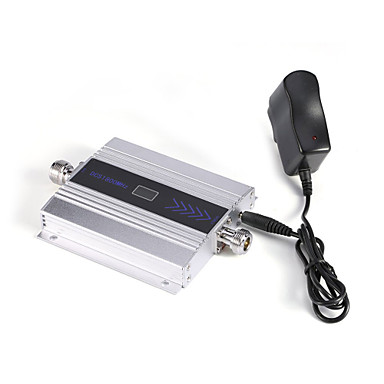 Mini 3G W-CDMA Mobile Phone Signal Booster UMTS 2100mhz Signal Repeater Amplifier with Power Supply LCD Display / Silver