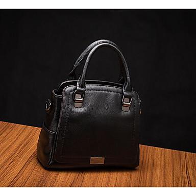 Women Shoulder Bag Cowhide All Seasons Casual Outdoor Square Zipper Black Gray Purple