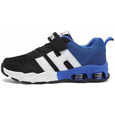 Para Meninos sapatos Couro Ecológico Tule Primavera Outono Conforto Tênis Colchete para Casual Azul Marinho Black / azul