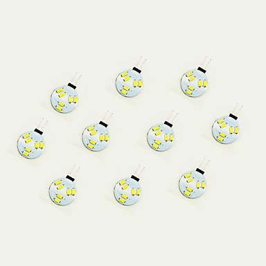 10pcs 1W 75lm G4 LED Bi-pin Lights 6 LED Beads SMD 5630 Warm White / White 12V / 10 pcs