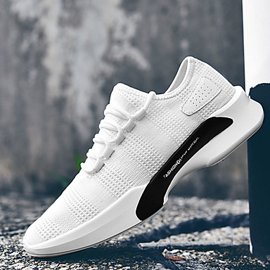 Unisex Shoes Tulle Summer Fall Light Soles Athletic Shoes Running Shoes Low Heel Round Toe for Athletic Casual Outdoor White Black Gray
