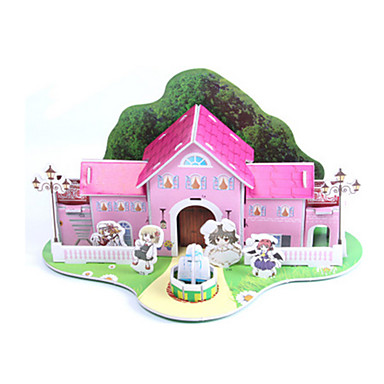 3D Puzzles Jigsaw Puzzle Paper Model Model Building Kit House Architecture 3D DIY High Quality Paper Classic 6 Years Old and Above