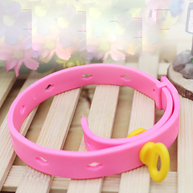 Cat Dog Collar Portable Foldable Solid Colored Rubber