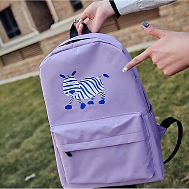 Women's Bags PU Backpack for Casual All Seasons Blue Blushing Pink Amethyst