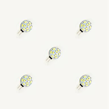 5pcs 1.5 W 160 lm G4 LED-lamper med G-sokkel 9 leds SMD 5630 Varm hvit Hvit DC 12 V