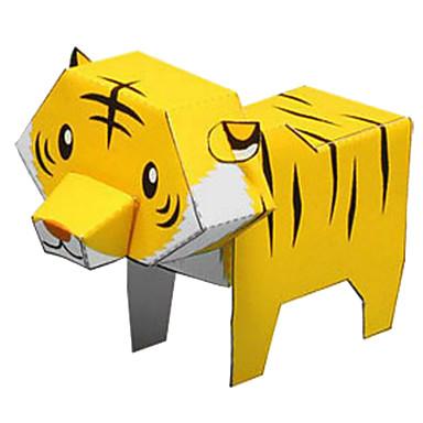 voordelige 3D-puzzels-3D-puzzels Bouwplaat Modelbouwsets Tiger Dieren DHZ Klassiek Cartoon Kinderen Unisex Speeltjes Geschenk
