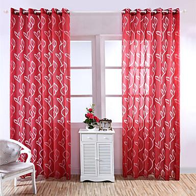 Barra no Interior Tratamento janela Pastoril, Gravado Floral Quarto Material Sheer Curtains Shades Decoração para casa