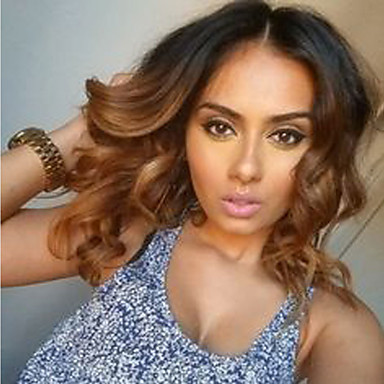 Medium Brown Body Wave For Black Women Dark Roots Brazilian human Hair Glueless Full Lace Wigs With Baby Hair Cheap On Sale
