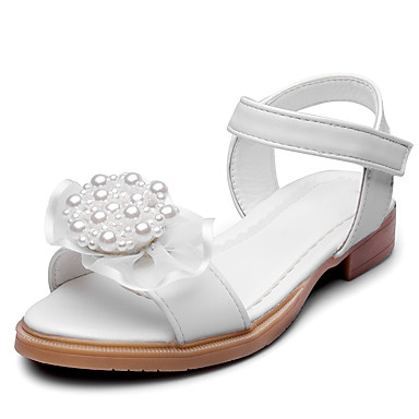 Girls' Shoes Leatherette Summer / Fall Comfort Sandals Appliques / Magic Tape for White / Pink / Wedding / Party & Evening
