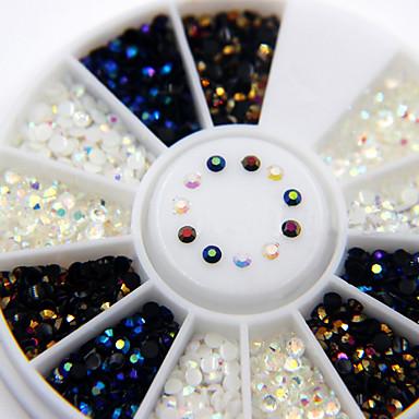 1800 pcs 2mm preto ab strass flatback nail art strass encantos das unhas nail art decorations