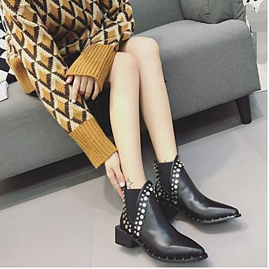 Naiset Mokkasiinit Comfort PU Kevät Kausaliteetti Comfort Musta 1-1,75in
