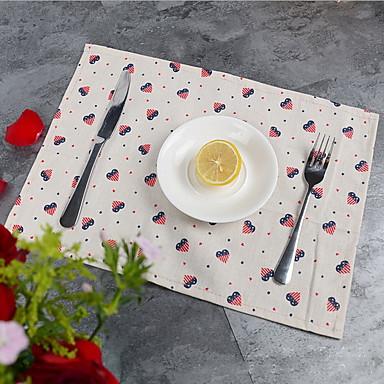 Cotton Blend Table cloths Print Table Decorations 1 pcs