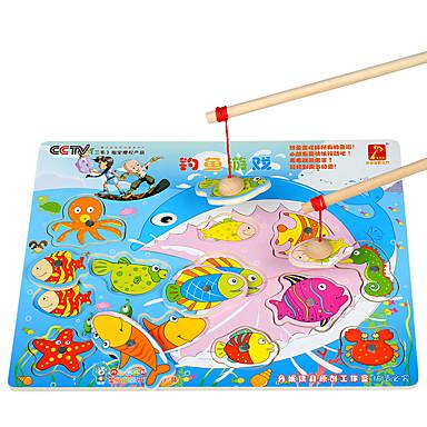 Danniqite Brinquedos Magnéticos Brinquedos de pesca Brinquedo Educativo Magnética Tamanho Grande Quadrada Peixes Crianças Dom