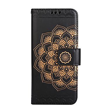 Capinha Para Samsung Galaxy S8 Plus S8 Porta-Cartão Carteira Flip Estampada Com Relevo Capa Proteção Completa Mandala Flor Rígida PU