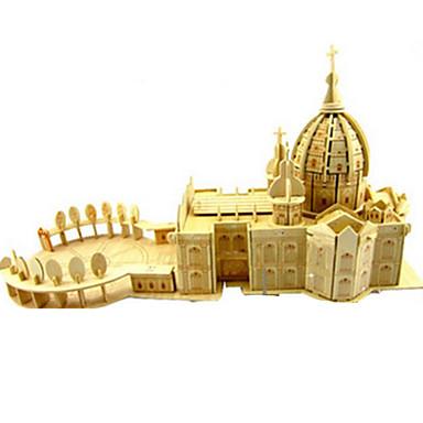 3D-puslespill Puslespill Tremodeller Modellsett Kirke simulering GDS Tre Klassisk Barne Voksne Unisex Gave
