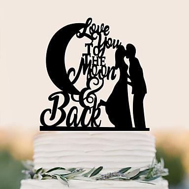 Cake Topper Birthday Wedding High Quality Plastic Wedding Birthday with 1 PVC Bag