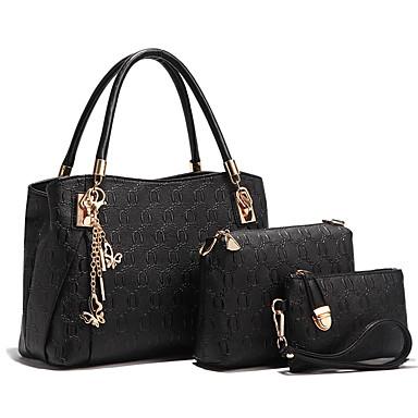 Women's Bags PU Bag Set 4 Pieces Purse Set Blue / Gold / Black