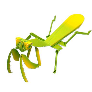 3D-puslespill Papirmodell Modellsett Papirkunst Leketøy Kvadrat 3D Insekt Mantis GDS simulering Unisex Deler