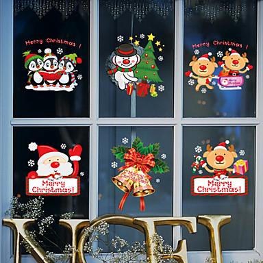 Window Film Window Decals Style Merry Christmas PVC Window Film