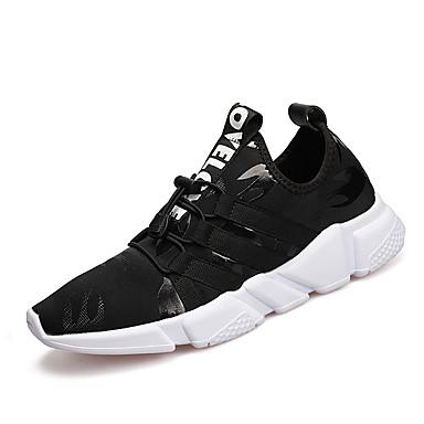 Homens sapatos Couro Ecológico Primavera Outono Solados com Luzes Conforto Tênis Cadarço para Atlético Preto Cinzento