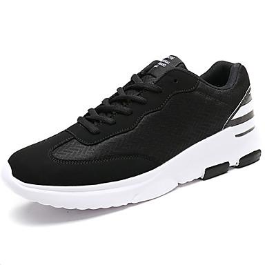 Homens sapatos Couro Ecológico Primavera Outono Conforto Tênis Cadarço para Casual Branco/Preto Preto/Vermelho