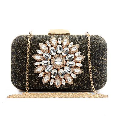 L.WEST Woman Fashion Luxury High-grade Flowers Evening Bag