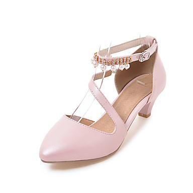 Pu Tacón Sandalias Mujer Pump Bajo Dedo Verano Básico Zapatos IEDYWH29