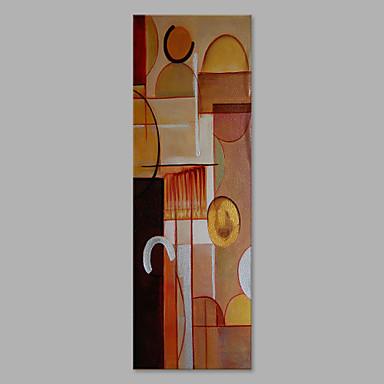 Pintura a Óleo Pintados à mão - Abstrato Artistíco / Abstracto Tela de pintura / Lona esticada