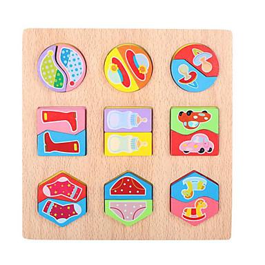Quebra-Cabeça Quebra-Cabeças de Madeira Brinquedo Educativo Quadrada De madeira 1-3 anos