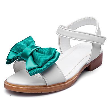 Para Meninas sapatos Courino Verão Outono Conforto Sandálias Laço Velcro para Casamento Festas & Noite Social Branco Rosa claro