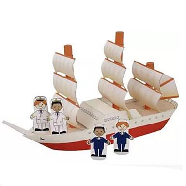 3D-puslespill Papirmodell Papirkunst Modellsett Skip simulering GDS Hardt Kortpapir Klassisk Barne Unisex Gave
